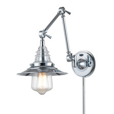 Insulator Retro Swing Arm Plug in Wall Sconce