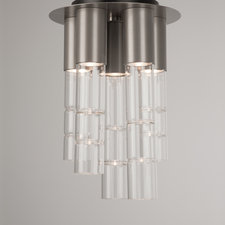 Bamboo Mixed Glass Semi Flush Mount