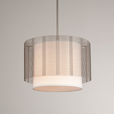 Mesh Downtown White Linen Chandelier