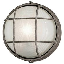 Oceanview Outdoor Round Wall Sconce