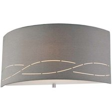 Silver Laser Wall Sconce