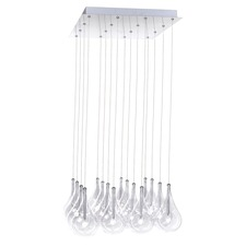 Larmes 16 Light Square Suspension