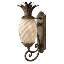 Plantation Outdoor Curved Base Wall Light