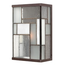Mondrian Outdoor Art Glass Wall Light