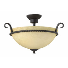 Casa Round Semi Flush Ceiling Light