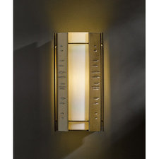 Textured Vertical Panels Medium Outdoor Sconce
