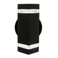 Summerside Outdoor Square Stripe Wall Sconce