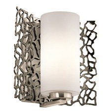 Silver Coral Wall Sconce