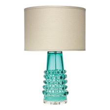 Tall Ribbon Table Lamp with Drum Shade