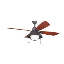 Seaside Outdoor Ceiling Fan with Light