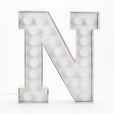 Vegaz N LED Alphabet Lamp