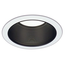 Ctr3801 6 Inch Tapered Black Baffle Downlight Trim
