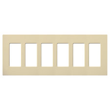 Claro Designer Style 6 Gang Wall Plate