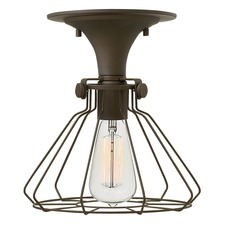 Congress Flat Cage Ceiling Light Fixture