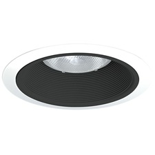 24 Series 6 Inch Tapered Black Baffle Downlight Trim