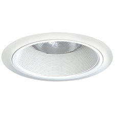 24 Series 6 Inch Tapered White Baffle Downlight Trim