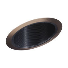 614 6 Inch Standard Slope Black Baffle Trim