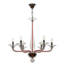 Stella Clear with Red Cord Chandelier