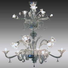 Multistile Semi-Flush Chandelier