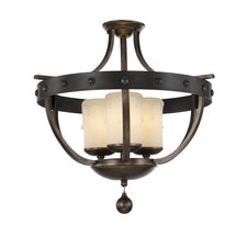 Alsace Candle Semi Flush Mount