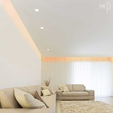 Floating Wall Plaster-In LED System RGB/White Combo