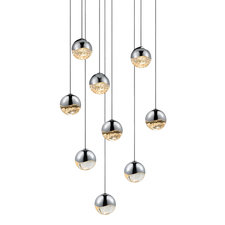 Grapes 9 Light Round Pendant