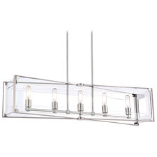 Crystal-Clear Linear Pendant