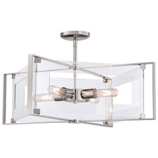 Crystal-Clear Convertible Semi Flush Mount