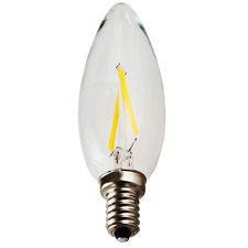2W Dimmable B10 LED Candle Torpedo 2200K 120V