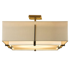 Exos Square Double Shade Semi Flush Mount
