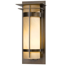 Banded LED Outdoor Wall Sconce with Top Plate