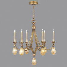 Quartz and Iron Chandelier