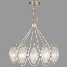 Quartz and Iron 12 Light Pendant
