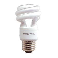 T3 Mini Coil Medium Base CFL 9W 2800K 120V