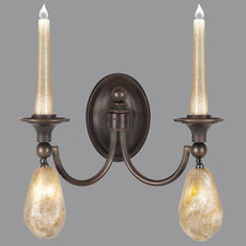 Quartz and Iron Wall Sconce