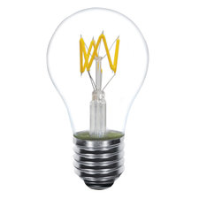 4W A19 Medium Base LED Zig Zag Filament 2700K 82CRI 120V