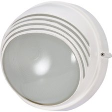 Round Hooded Die Cast Bulkhead Wall Sconce