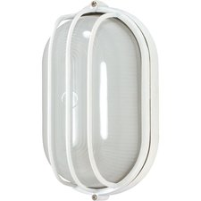 Oval Caged Outdoor Wall Sconce