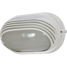 Oval Outdoor Hooded Die Cast Wall Sconce