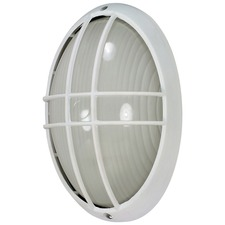 Oval Outdoor Caged Wall Light