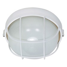 Caged Round Outdoor Wall Light