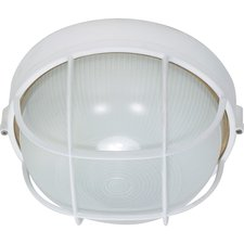 Caged Round Outdoor Wall Sconce