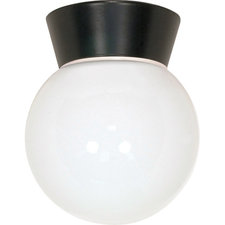 Solid Globe Outdoor Ceiling Flush Mount