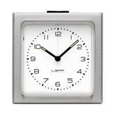 Steel White Arabic Block Alarm Clock