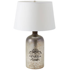 Paris Glass Bottle Lamp
