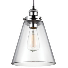 Baskin Polished Nickel Pendant without Bulb