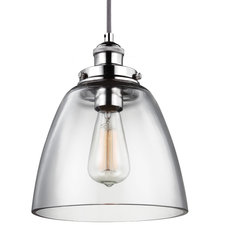 Baskin Polished Nickel Pendant with Bulb