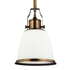 Hobson 10 inch 13W Pendant with Bulb Aged Brass