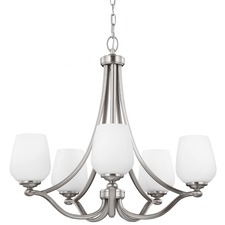Vintner 5 Light Chandelier Satin Nickel