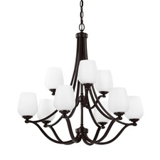 Vintner 9 Light Chandelier Heritage Bronze